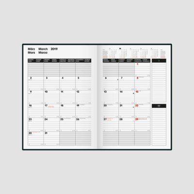 Müller Schreibwaren Fachgeschäft in Eppingen: Brunnen Slim Line Kalender 2019 jetzt erhältlich.